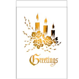 C013 Greetings – 3 XM Candles