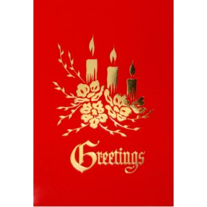 C014 Greetings – 3 XM Candles