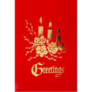 C014 Greetings – 3 XM Candles
