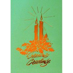 C022 Season's Greetings – 2 Candles
